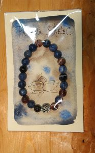 Naramek/Armband/Bangle Virgo/Sagitarrius-Sodalite and Agate Botswana 8mm
